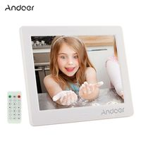 """Andoer 8"""" HD Digital Photo Frame with Alarm Clock MP3 MP4 Movie Player Function"""