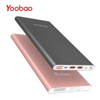 Yoobao A2 20000mAh Universal Power Bank Dual USB Output/Input Ultra Battery Charger