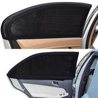 Mayitr 2Pcs Car Rear Side Window Sun Shade Mesh Fabric Sun Visor Cover Shield UV