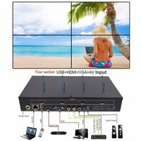 LINK-MI LM-TV04 Video Wall Controller HDMI VGA AV USB 2x2 Four stitching image