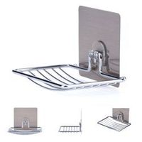 ACAMPTAR Stainless Steel Adhesive Soap Holder Soap Dish Shower Tray