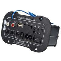 Mayitr 1pc Bluetooth HiFi Bass Power AMP Stereo Digital Amplifier USB TF Remote