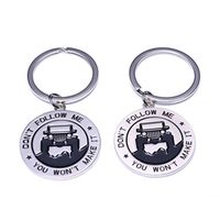 """ARMSKY Key Chain Enthusiasts -Key rings for Jeep """"Don't Follow Me You Won't Make It"""""""