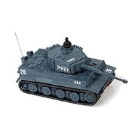 New Mini 1:72 49MHz R/C Radio Remote Control Tiger Tank 20M Kids Toy Gift Army (Grey)