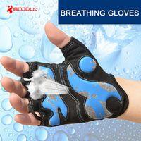 BOODUN Men Women Half Finger Cycling Gloves MTB Bike Anti-Static Washable Breathable Soft Waterproof Non-Slip Shockproof Gloves