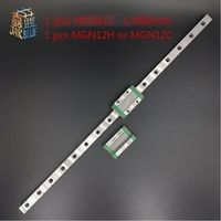 AXK 12mm Linear Guide MGN12 L 400mm linear rail way MGN12C MGN12H Long carriage