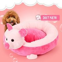 Cute Cartoon Turtle Piggy Round Nest Sofa Pet House Pink Green Dog Bed Winter Kennel Pet Small Dogs Cat Warm Pad 42*12CM