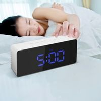 DECDEAL Digital Desktop Alarm USB Battery Operated Display