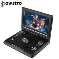 "powstro 7.8"" LCD Display DVD Player 270 Degree Portable TV Game with USB/SD"