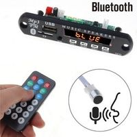 kebidumei 5V 12V Bluetooth Handsfree Mp3 Player FM Radio Wireless Receiver TF USB