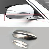 CNORICARC Stainless steel Rearview Mirror Trim Strips 4pcs for Mercedes Benz