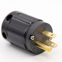 Moonsaudio Factory X 2PCS Black hifi sonar highend Brass copper P-029 US Power Plug
