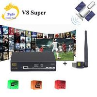 FREE SAT BOX HD 1080P DVB-S2 Tuner openbox v8 Super Support Cccam Cline