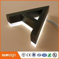 shsuosai 3D Acrylic LED Letters Outdoor customized