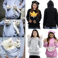 wotogold Dog/Cat Lovers Hoodies With Pet Holder Chihuahua