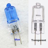 WXFTDMULIUFENG 10pcs 5 boxes halogen Transparent/blue white/warm surface plating G4