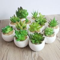 JINGYANGBEI Mini Potted Artificial Bonsai fake Flower vase