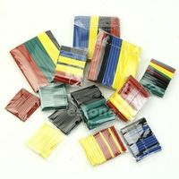 TCAM 328 Pcs Assorted Heat Shrink Tube 5 Colors 8 Sizes