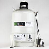 U.S.SOLID 20 L Cryogenic Container Dewar Liquid Nitrogen Container LN2 Tank Liquid Nitrogen Tank