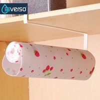 everso Iron Roll Towel toilet paper holder Tissue storage rack Cabinet hanging shelf