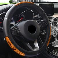 DONYUMMYJO Reflective Faux Leather Steering-Wheel /China Dragon Design