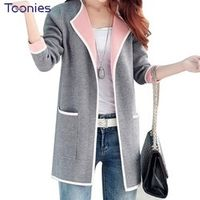 TOONIES Long 2018 Women Autumn Patchwork Full sleeve Slim