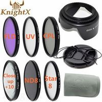 KnightX 52mm 55mm 58mm 67mm UV CPL FLD graduated polarizing color ND Filter Set