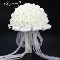 Leeymon Bridal Wedding Bouquet Artificial Decoration Flower