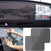 CARPRIE AutoCare 2pcs Black Side Car Sun Shades Rear Window Sunshades Cover Block