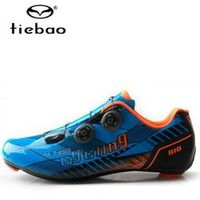 TIEBAO cycling shoes 2018 carbon outdoor sport bicycle sneaker self-locking road men