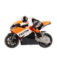 LeadingStar 2.4G 1:16 High Speed Drift CVT Motorcycle Mini RC Remote Control Racing BIKE RTR Gyro Orange and Blue Children Gift