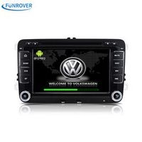 Funrover Car Radio playe 2 din android 5.1 for vw passat b6 golf 4 5 tiguan polo gps
