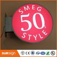 shsuosai advertising LED light box frontlit stainless steel