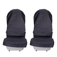 AUMOHALL Waterproof Car Seat Covers Oxford Cloth Automobile Front Protector 2 Pcs