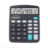 Etmakit Black 12 Digit Large Screen Calculator Computer Financial Accounting XXM