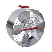 DC House Power 65W Solar Air Cooling Vent Fan Ventilation for Workplace High Flow