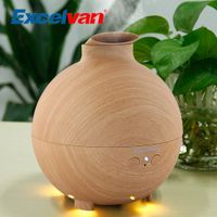 Excelvan 500ML Ultrasonic Humidifier Essential Oil Aroma Diffuser Aromatherapy Air Purifier Mist Maker Light Woodgrain 20006A