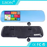LSON 5.0 Inch Wifi Rearview Mirror Android System Bluetooth GPS Navigation Tracker HD