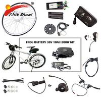 36V 10AH Lithium Battery 250W/350W/500W eBike Electric Bike Conversion Kit Fit