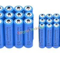 toyofmine 12 AA 12 AAA 1.2V 1800mAh 3000mAh NiMH Blue Rechargeable Battery Cell