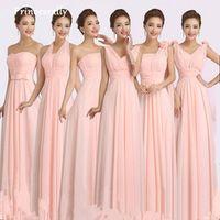 Princessally Peachy Bridesmaid Dress Chiffon Prom Dresses