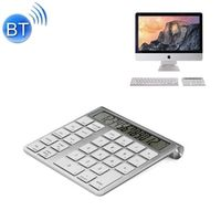 MC-55AG Aluminum Wireless Bluetooth Numeric Keyboard Mini Keypad Screen Built-in Calculator for iMac MacBook Windows PC Laptop