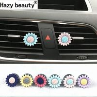Hazy beauty sunflowers decorations air conditioning vents perfume cars air fresheners