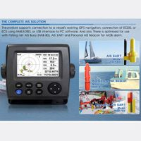 "4.3"" Color LCD Class B AIS Transponder marine ais receiver Rechargeable gps for boat fish finder  GPS Navigator transmitter"
