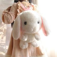 Cute Plush Japanese Kawaii Bunny Backpack Stuffed Girl