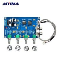 Aiyima NE5532 Tone Preamp Board Dual Trannel Front Plate Power 2.0 Amplifier HIFI