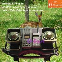 CIVAWEY with 300M-500M remote controller 2pcs 50W speaker Bird Mp3 player goose duck