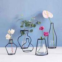 Creative Iron Vase Planter Rack Flower Pots Shelf Soilless