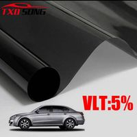 TXDSONG VLT 5% UV solar control car tint 50*300CM by Black side window film