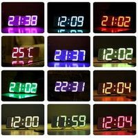 TEUMI Digital Gift For Friend Electronic Desk 3D LED Clock